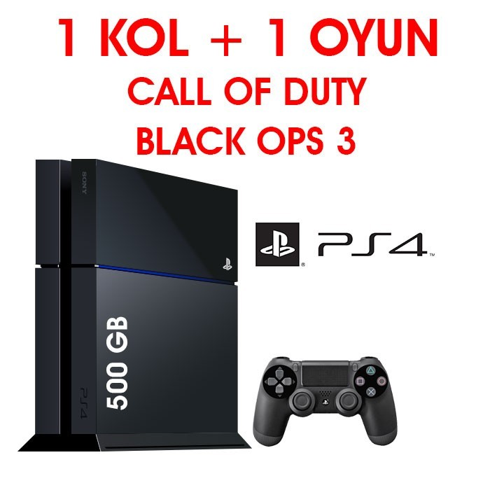 Senetli Taksitle Sony Playstation 4 PS4  500GB 1 KOL + 1 OYUN CALL OF DUTY