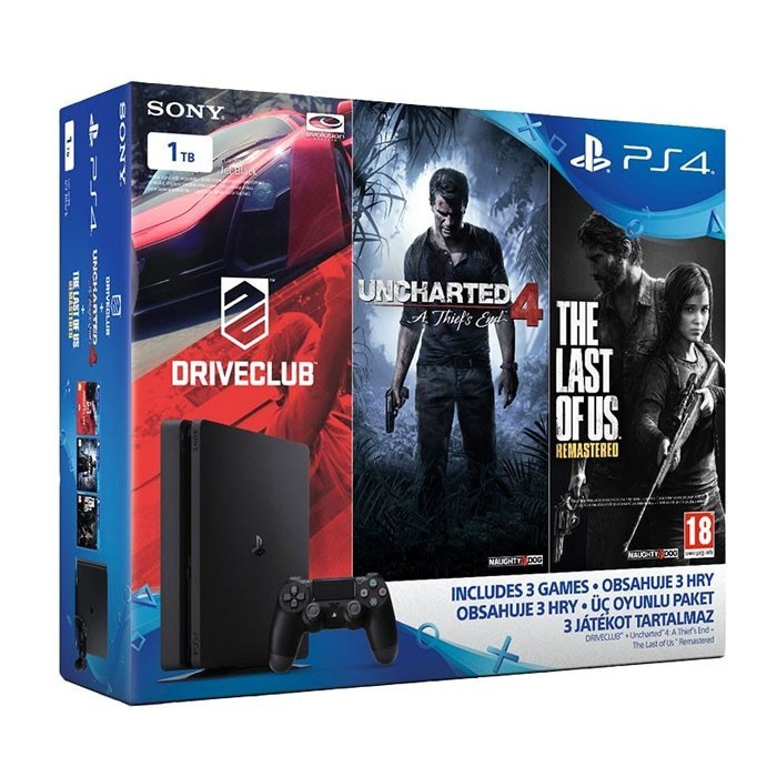 Taksitle Sony Playstation 4 PS4 SLiM 1 TB 1 KOL + 3 OYUN