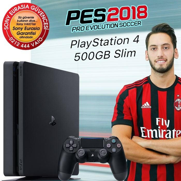Sony PlayStation 4 500GB Slim Pes18 Oyun Konsolu