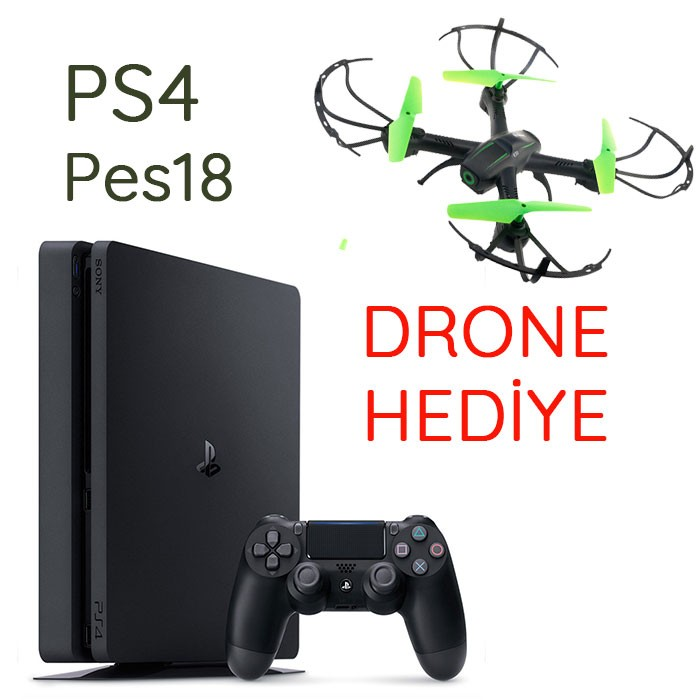Sony PlayStation 4 Slim 500GB 1 Kol Pes18 DRONE HEDİYE Eurasia